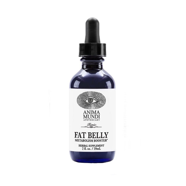 2 oz dropper bottle of Anima Mundi fat belly metabolism booster herbal supplement
