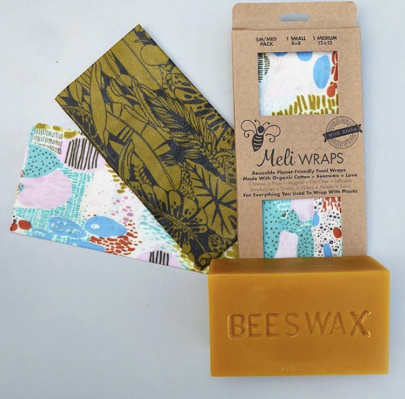 Meli Wraps and a bar of beeswax