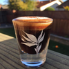 1 oz shot glass  with bird of paradise