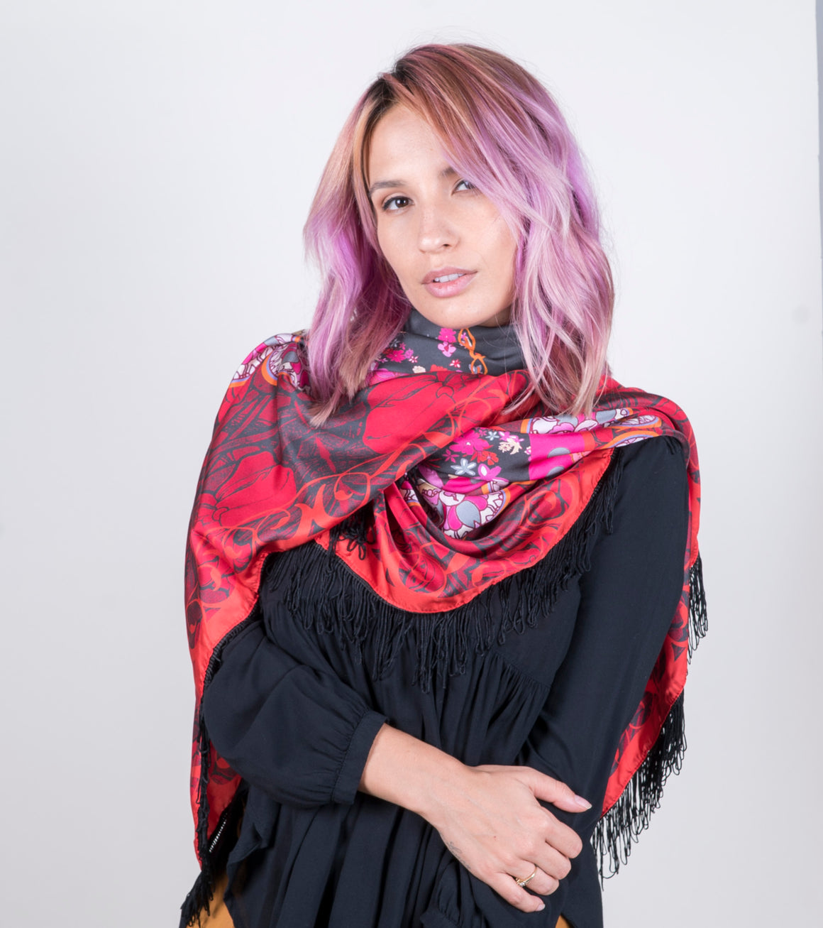 Bohemian Lava Red Scarf
