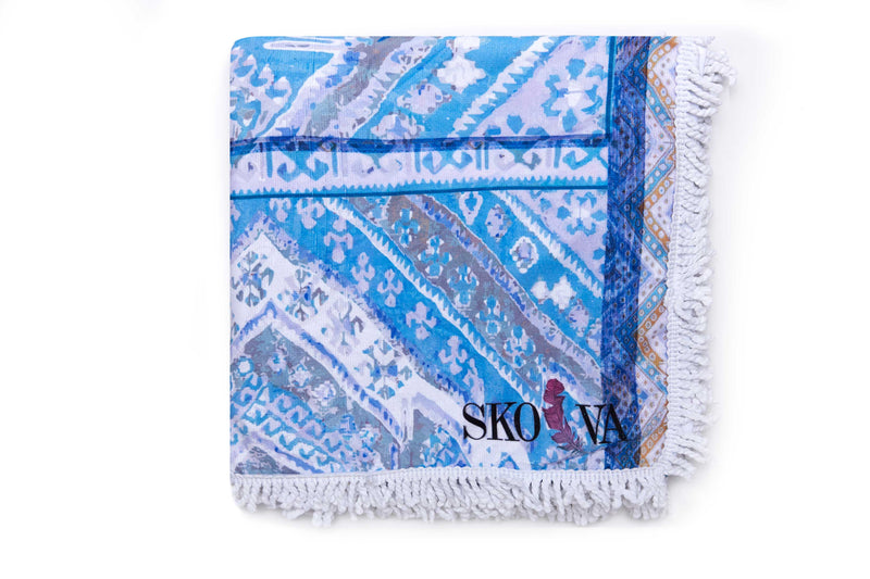 Skova blue Multi-Purpose, beach, picnic, pool, travel blanket! A travel must-have!