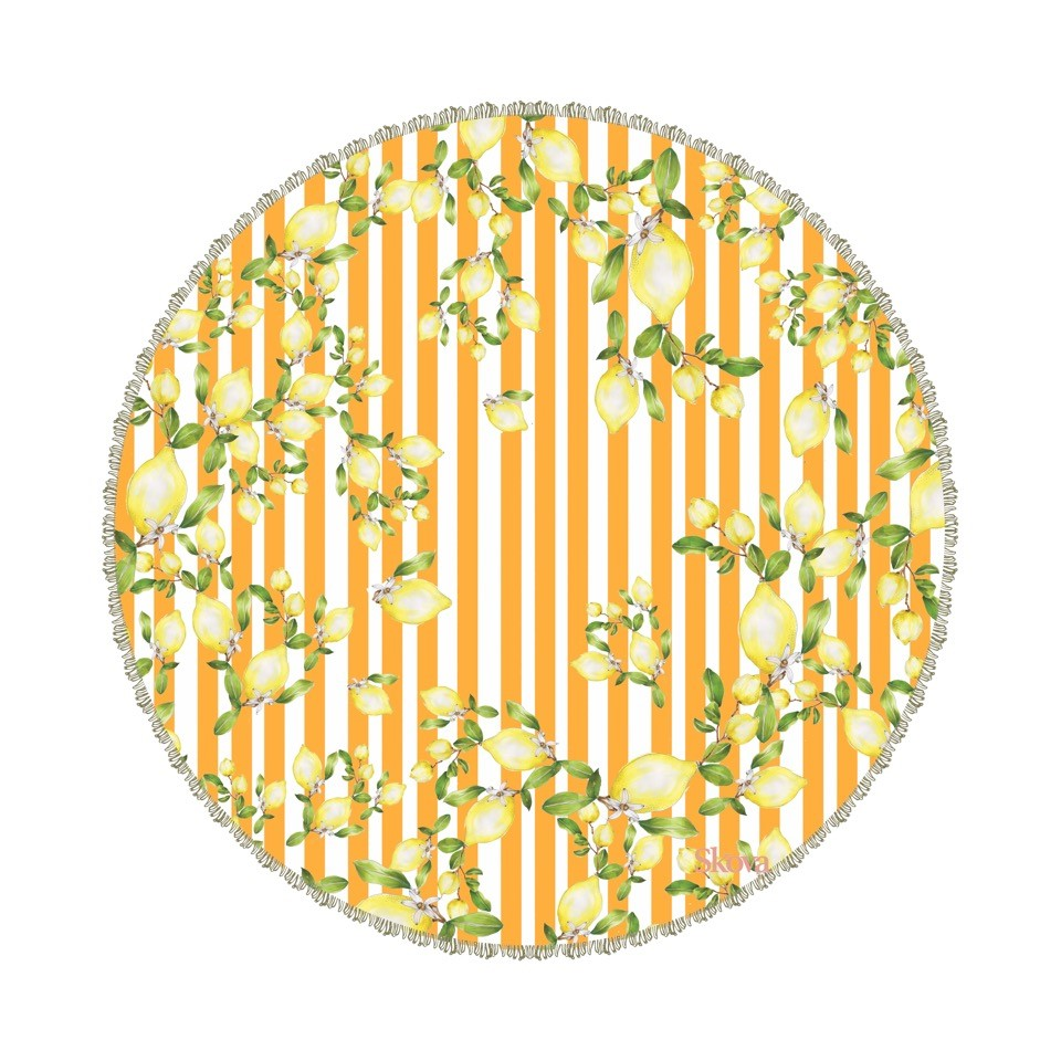 Citrus Round Towel