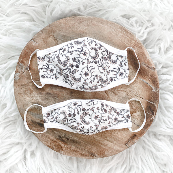 Mommy and Me Delicate Paisley Masks Set
