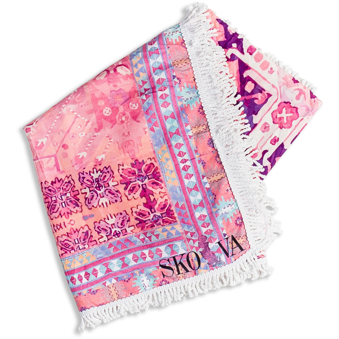Pink Kilim Travel Towel