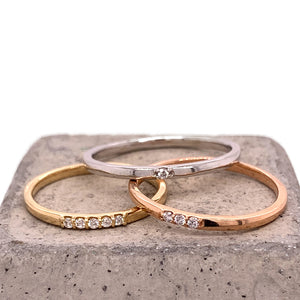 Load image into Gallery viewer, 1 Diamond Stacking Band - The Curated Gift Shop