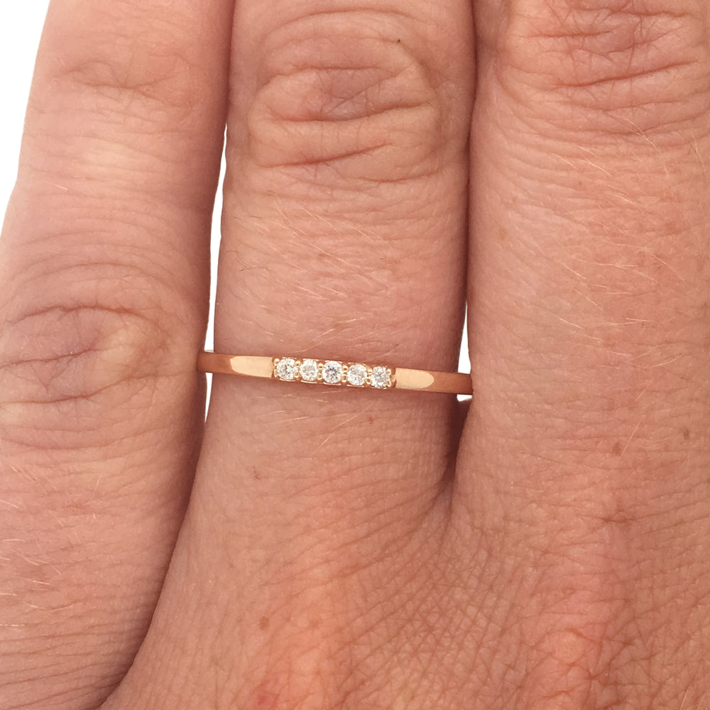 5 Diamond Stacking Band - The Curated Gift Shop