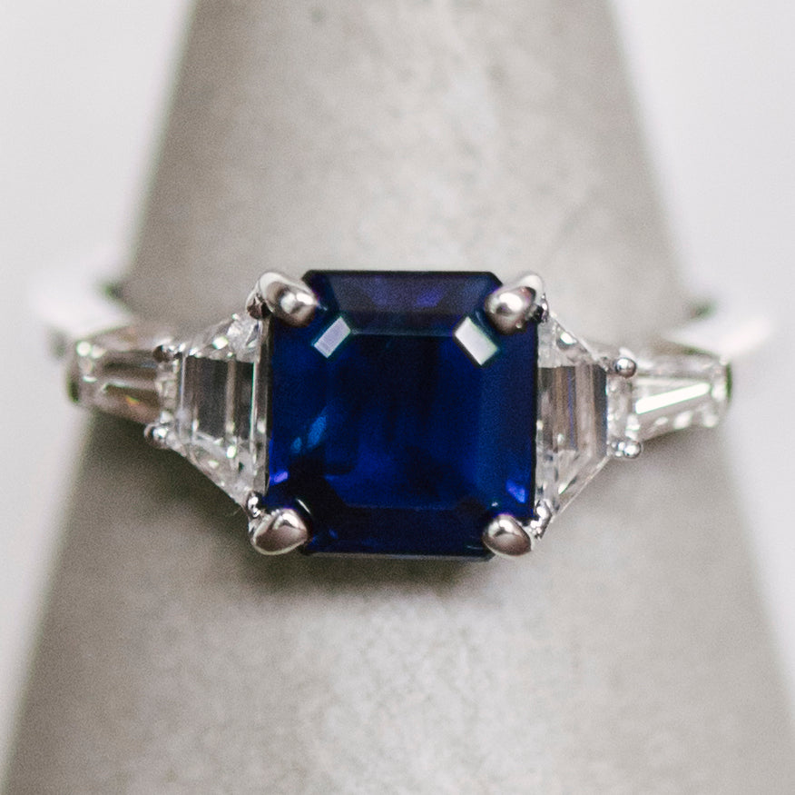 Blue Sapphire And Diamond Ring - King + Curated