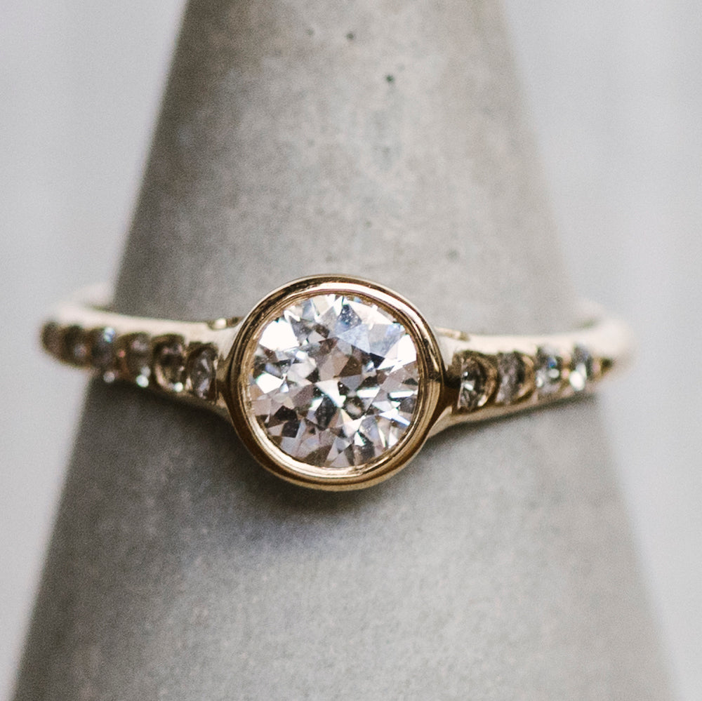 Modern Diamond Engagement Ring - King + Curated