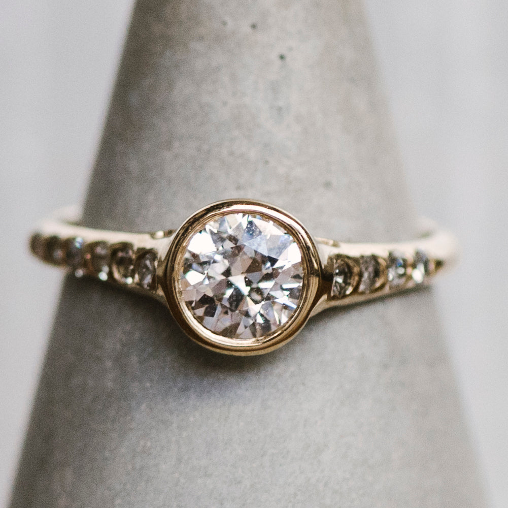 Modern Diamond Engagement Ring - The Curated Gift Shop
