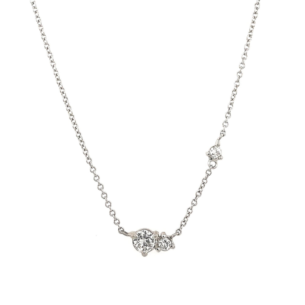 Asymmetrical Three Diamond Necklace - King + Curated