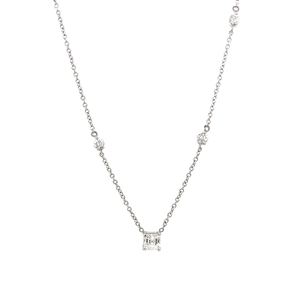 Asymmetrical Asscher Cut Diamond Necklace - King + Curated