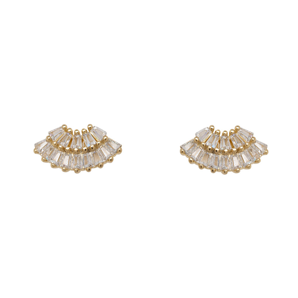 Baguette Crystal Fan Studs - The Curated Gift Shop