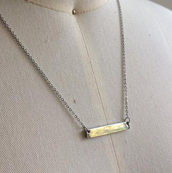 Custom Bar Necklace | Silver - The Curated Gift Shop