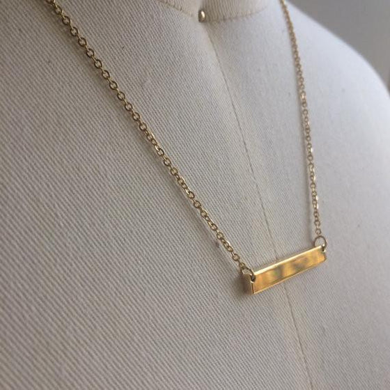 Custom Bar Necklace | Yellow Gold - The Curated Gift Shop