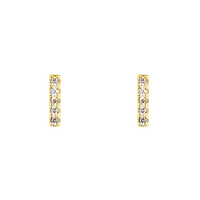 Bar Shaped Studs With Crystals