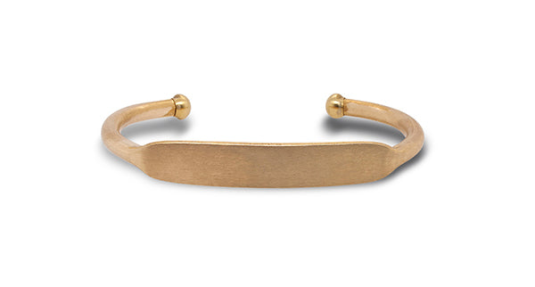 Front view of medium size brass cuff.