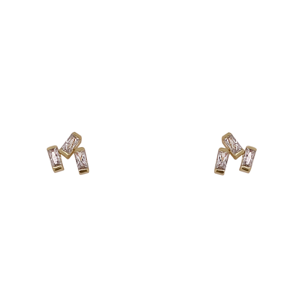 Crystal Cluster Studs | 3 Crystals - The Curated Gift Shop