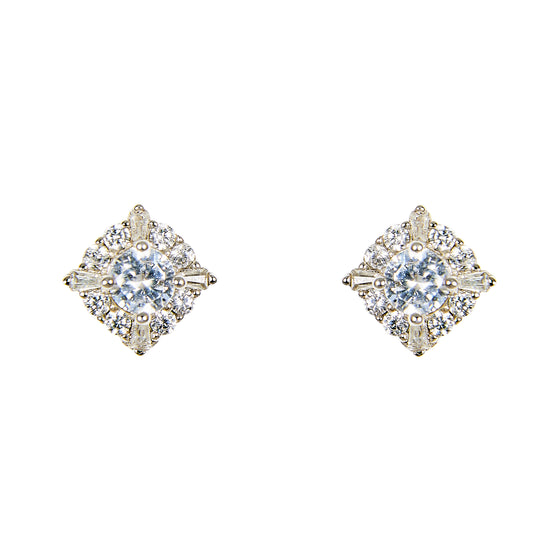 Crystal Stud Earrings | Large
