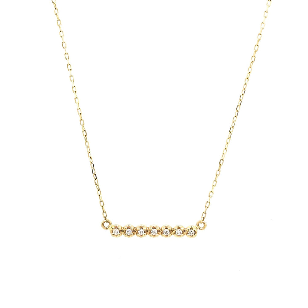 Dainty Diamond Bar Necklace - King + Curated