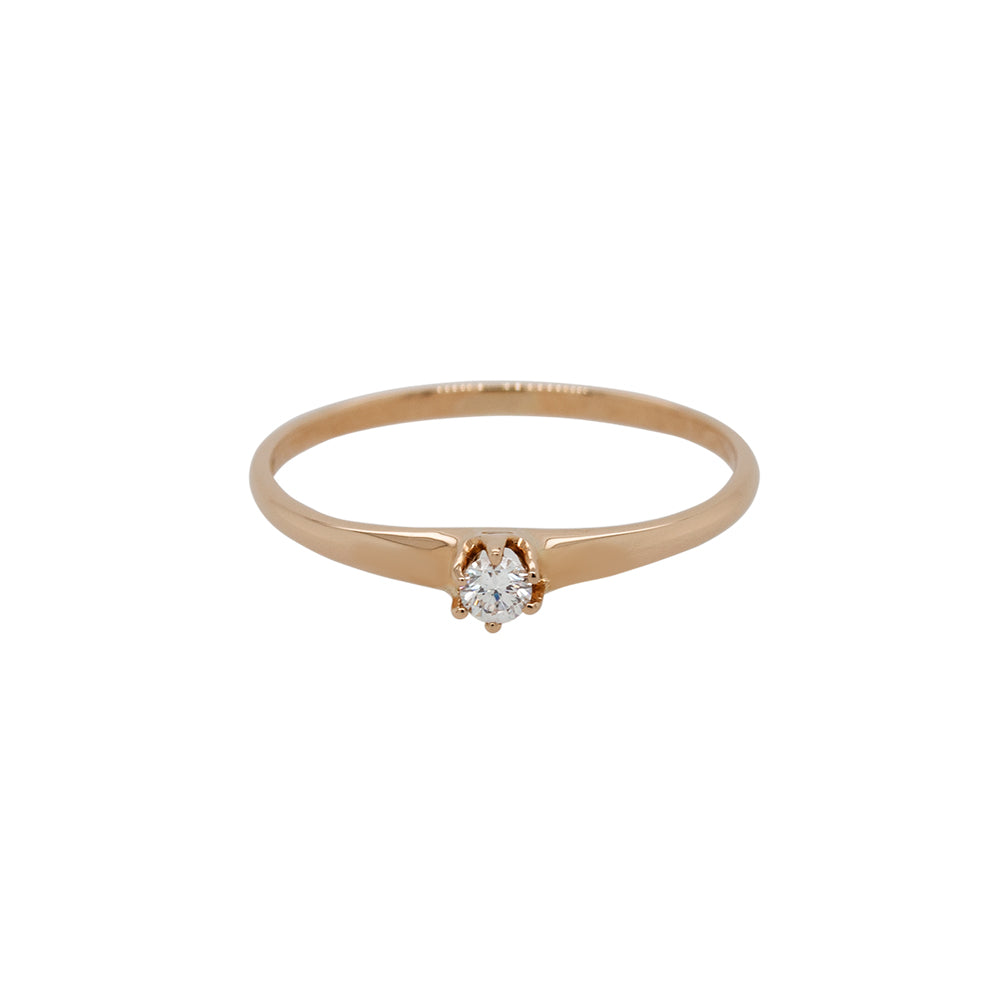 Dainty Diamond Ring - King + Curated