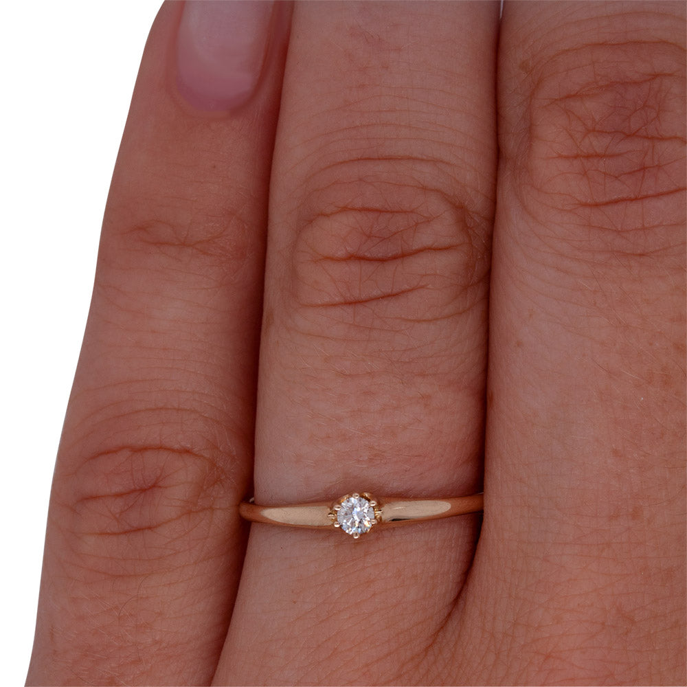 Load image into Gallery viewer, Dainty Diamond Ring - The Curated Gift Shop