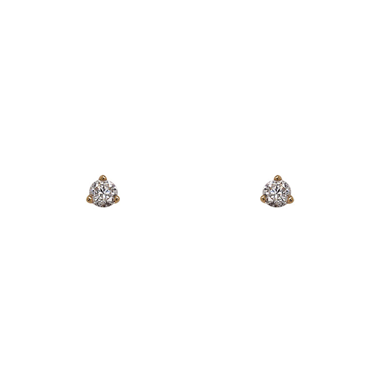 Load image into Gallery viewer, Diamond Stud Earrings | 3 Prong Martini Setting