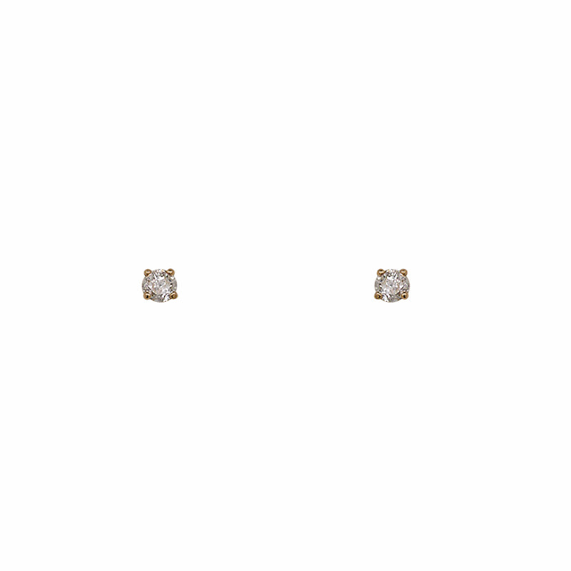 Diamond Stud Earrings | 4 Prong Single Base Setting