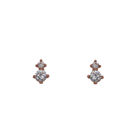 Double Crystal Studs - The Curated Gift Shop