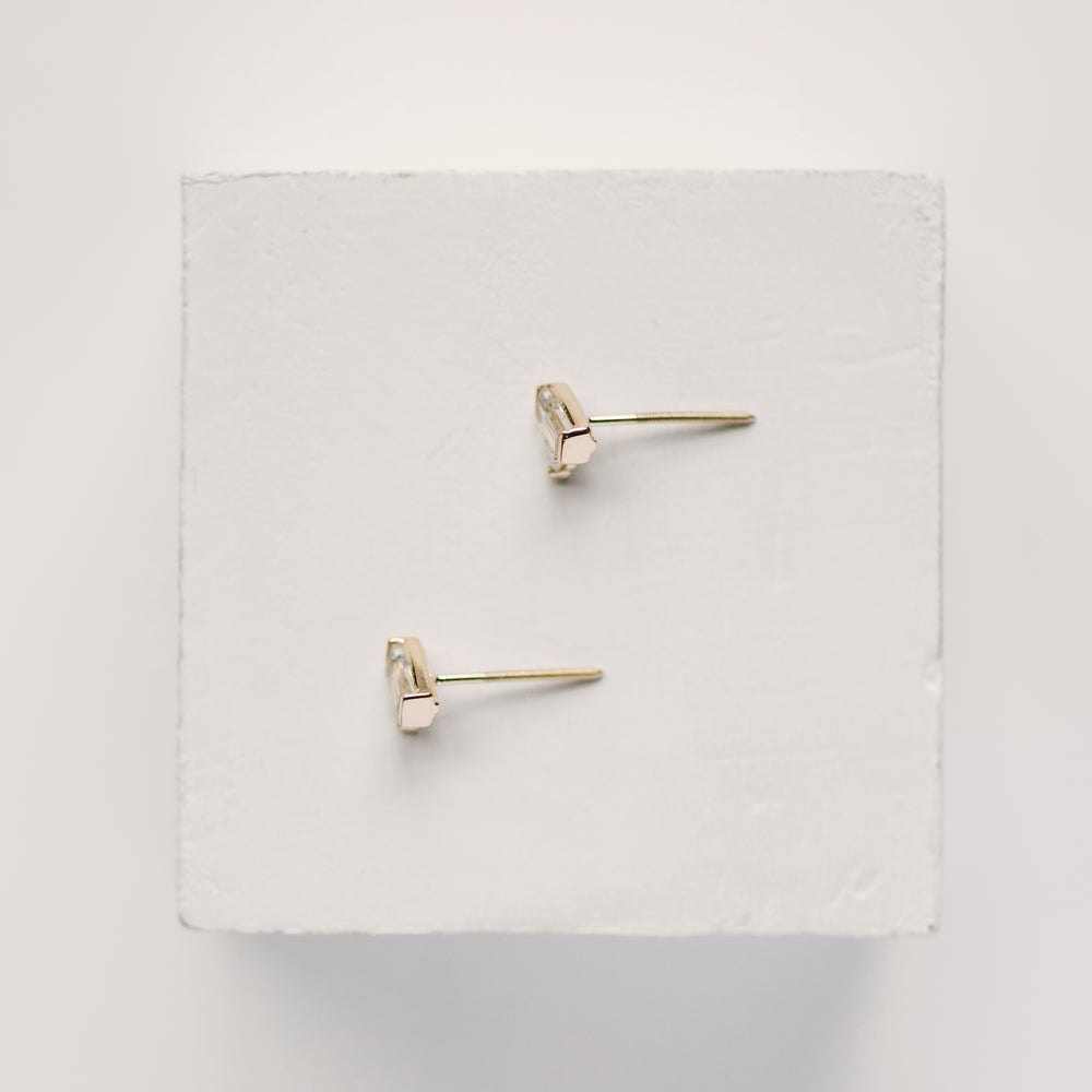 Load image into Gallery viewer, Moonstone And Diamond Earrings - The Curated Gift Shop