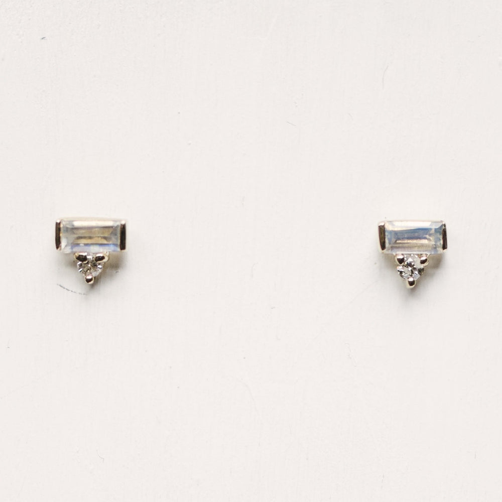 Moonstone And Diamond Earrings - King + Curated
