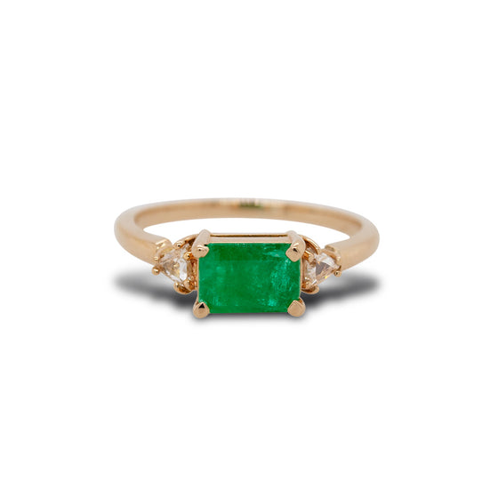 Emerald And Diamond Ring - The Curated Gift Shop