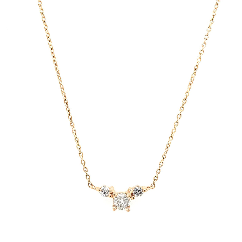Gray Triple Diamond Necklace - King + Curated