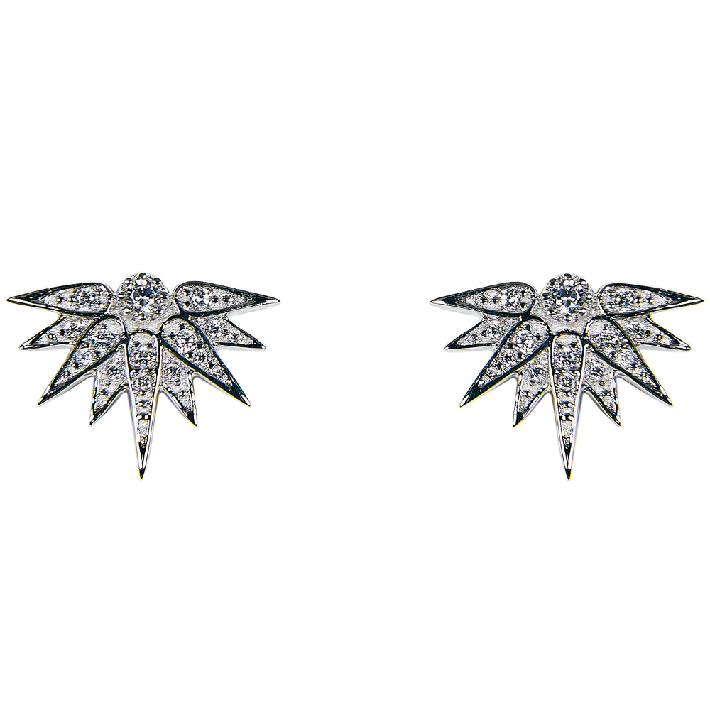 Half Starburst Stud Earrings - King + Curated