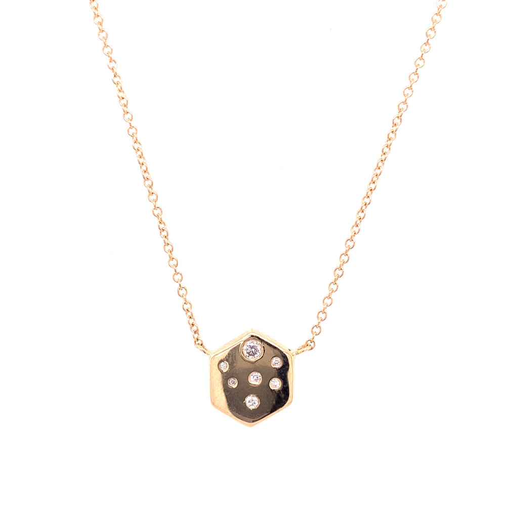 Hexagon Diamond Necklace - King + Curated