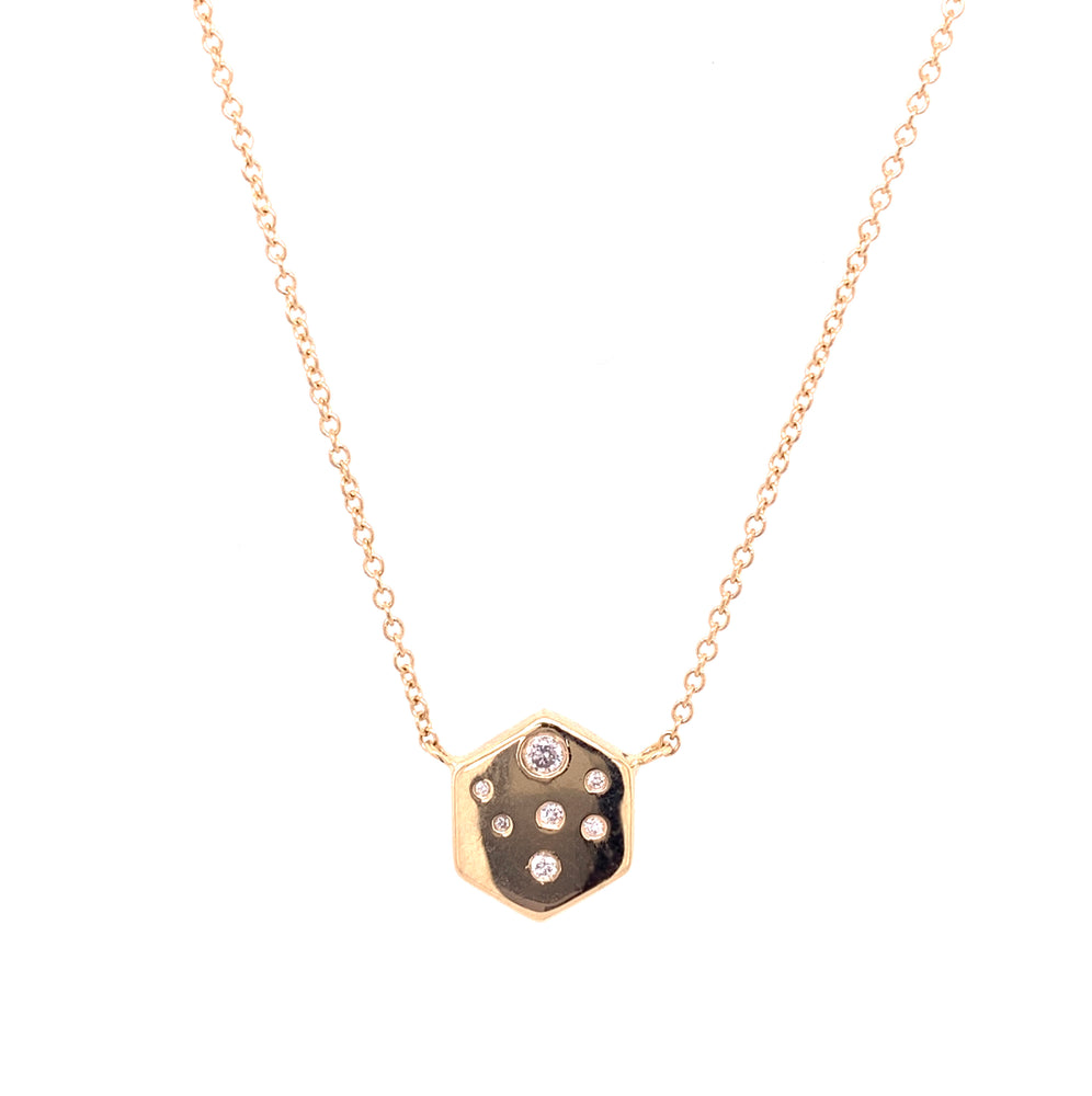 Hexagon Diamond Necklace - The Curated Gift Shop