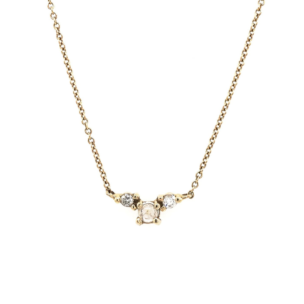 Moonstone Double Diamond Necklace - King + Curated