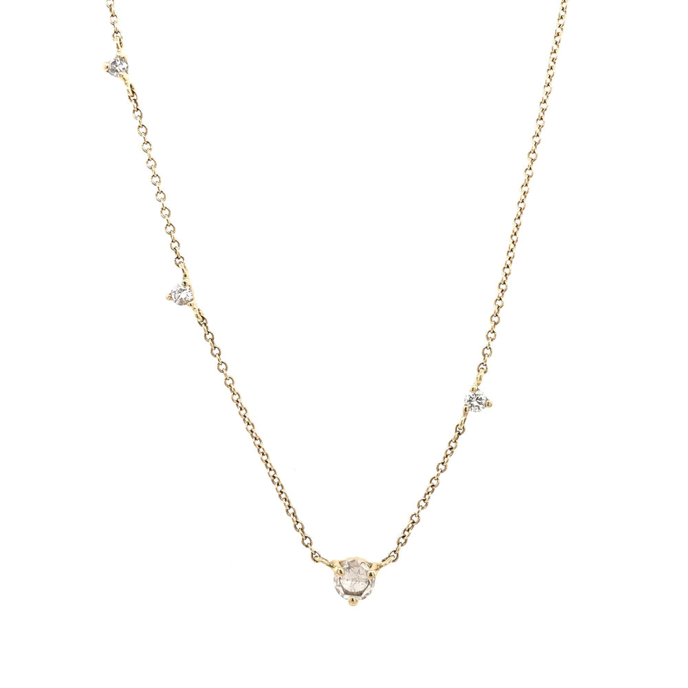Asymmetrical Rose Cut Diamond Necklace - King + Curated