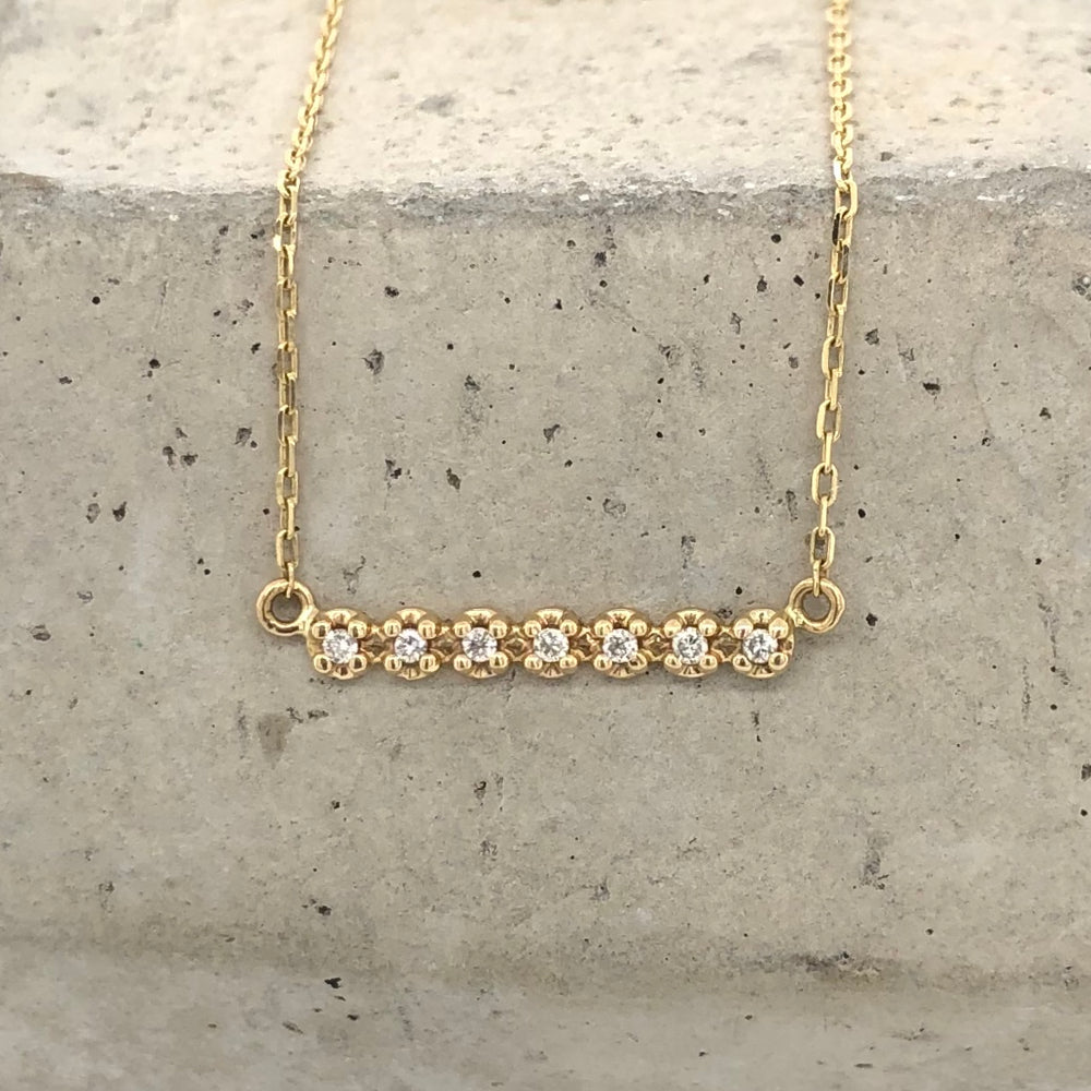 Dainty Diamond Bar Necklace - The Curated Gift Shop