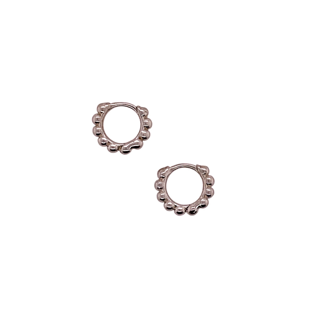Modern, Beaded Ear Hugger Hoop Earrings - King + Curated