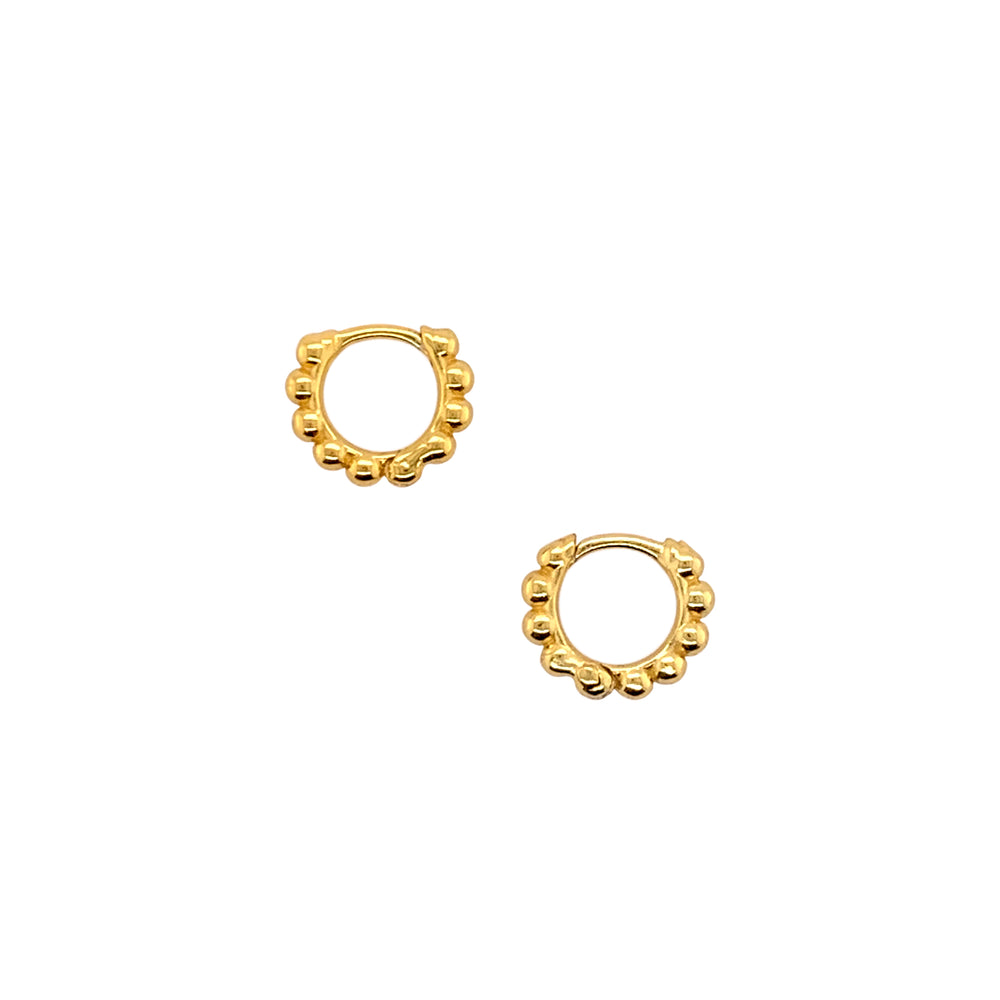 Modern, Beaded Ear Hugger Hoop Earrings - The Curated Gift Shop