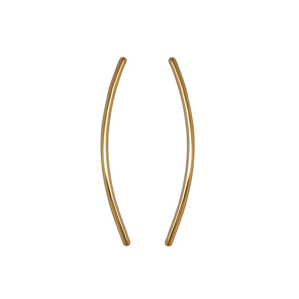 Modern, Curved Bar Ear Climbers - The Curated Gift Shop