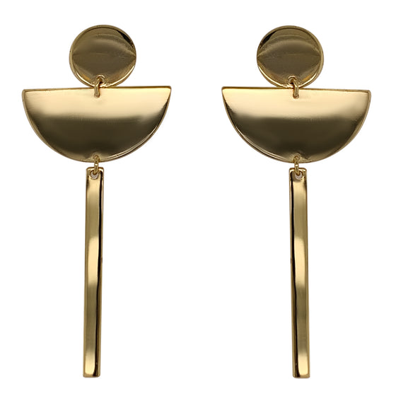 Modern, Dangling, Half Moon and Bar Earrings