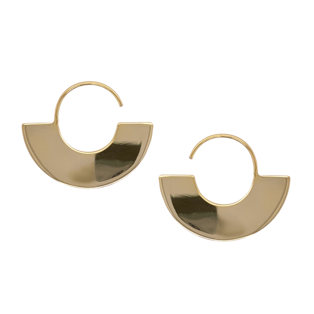 Modern, Fan Shaped Hoops - The Curated Gift Shop