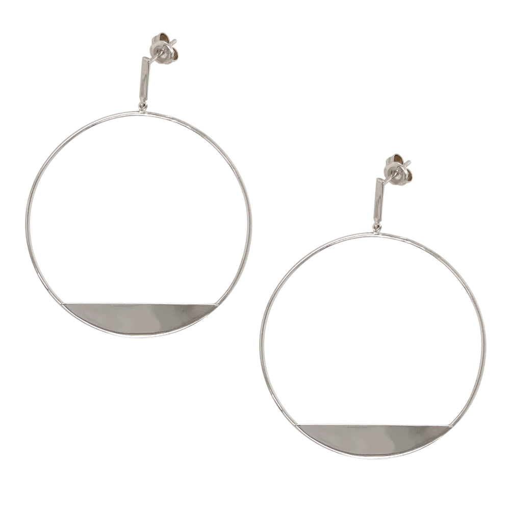 Modern, Front Facing Hoops With Slice - King + Curated
