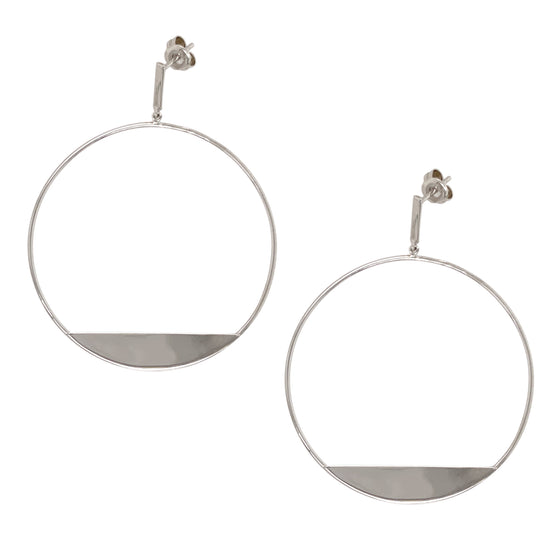 Modern, Front Facing Hoops With Slice - The Curated Gift Shop