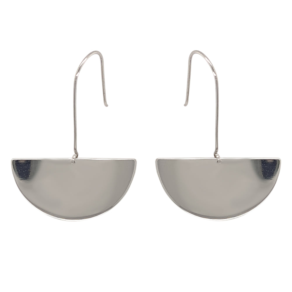 Modern, Hanging Half Moon Earrings - King + Curated