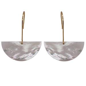 Load image into Gallery viewer, Modern, Hanging Half Moon Earrings - The Curated Gift Shop