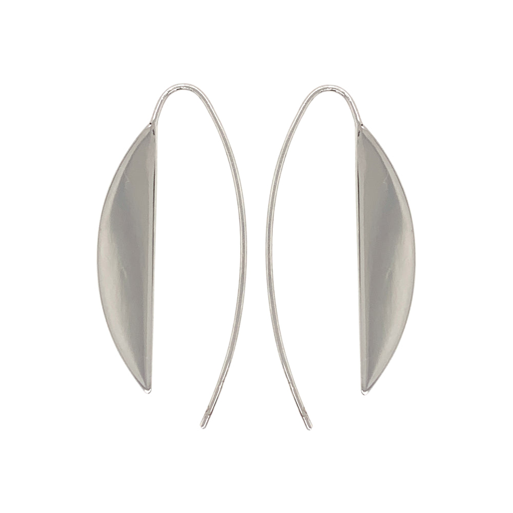 Load image into Gallery viewer, Modern, Long Slice Earrings - The Curated Gift Shop