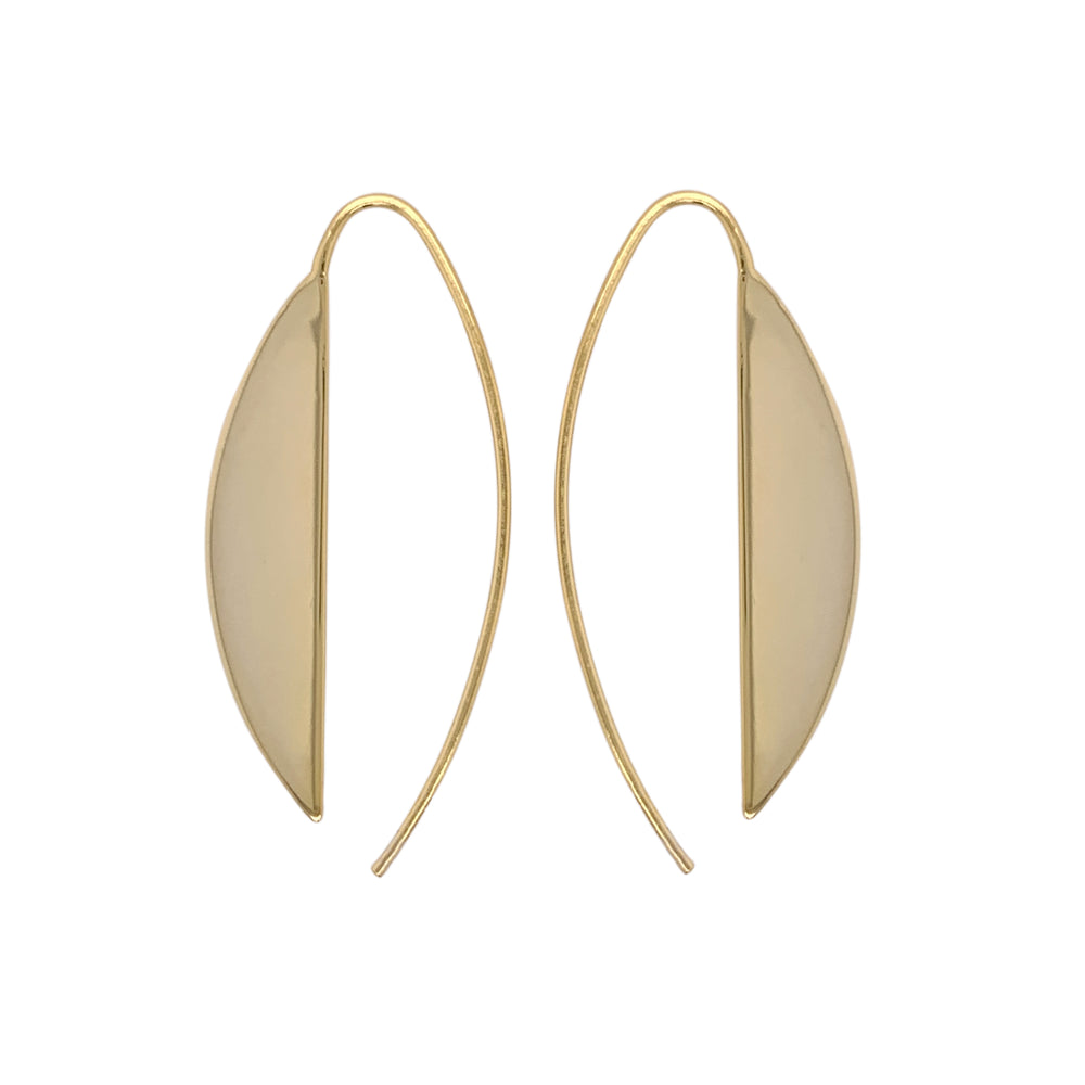 Modern, Long Slice Earrings - The Curated Gift Shop