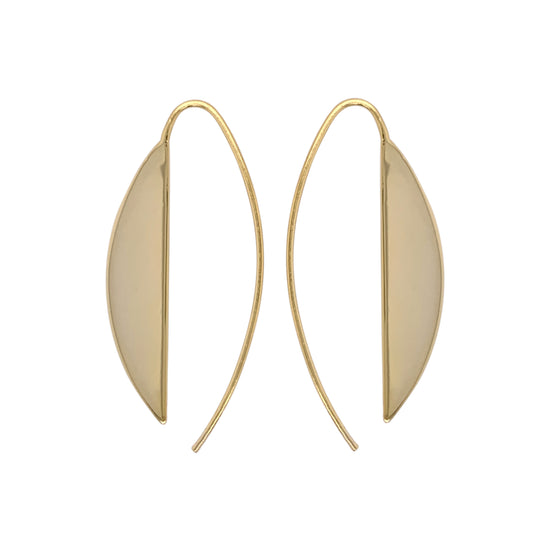 Modern, Long Slice Earrings